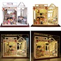Hoomeda Dollhouse PH002 Magic Snacks Miniature DIY Handmade Kit With Dolls Lights Best Gift Toys For Children Adult Girls