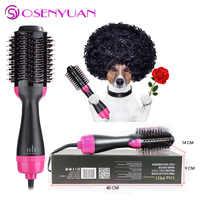 La mejor venta de secador de pelo y volumizador, ManKami salón aire caliente paleta estilo cepillo generador de iones negativos rizador de pelo