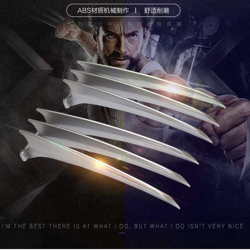 Adult Children 1pair version Wolverine Claws Hard Plastic Weapons Cosplay The Props