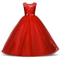 Summer Flower Girl Dress Tulle Wedding Dresses For Teen Girls 6 14Years Old Fluffy Kids Evening