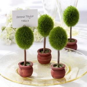 FREE SHIPPING(18pcs/Lot)+Topiary Photo Holder/Place Card Holder Wedding Table Centerpiece Decoration Favors