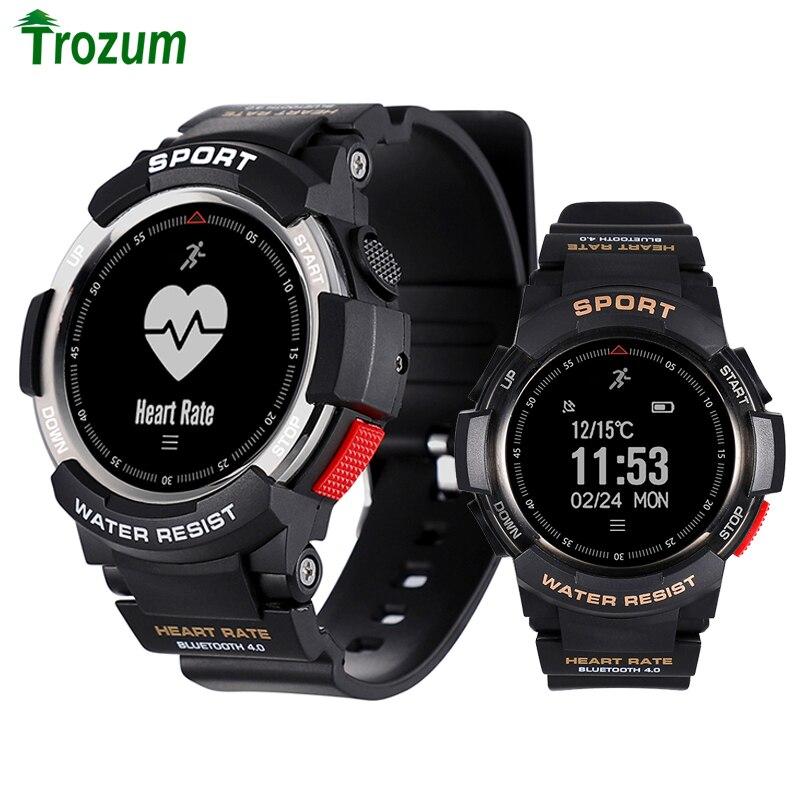 2018 nuevo n° 1 F6 Smartwatch IP68 impermeable Bluetooth 4,0 Monitor dinámico de ritmo cardíaco Smart watch para Android Apple Smart teléfono