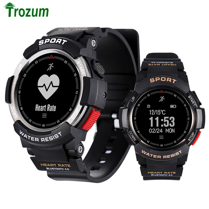 2019 NEW No.1 F6 Smartwatch IP68 Waterproof Bluetooth 4.0 Dynamic Heart Rate Monitor Smart watch For Android Apple Smart Phone-in Smart Watches from Consumer Electronics on AliExpress