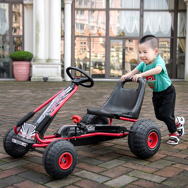 Factory outlet children's Snow Kart Four wheels Pedal bicycle Sports Fitness Educational Toys baby beach stroller can sit ride | Happy Baby Mama