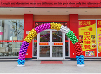 Balloons Arch Set For Wedding Party Decorations Supplies Meeting Graduation Ceremony With Round Gold Red Purple