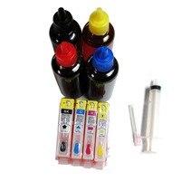 4 bottle 100ml dye ink +Empty ink cartridge For HP670 670XL for HP Deskjet Ink Advantage 3525/4615/4620/5525/4625