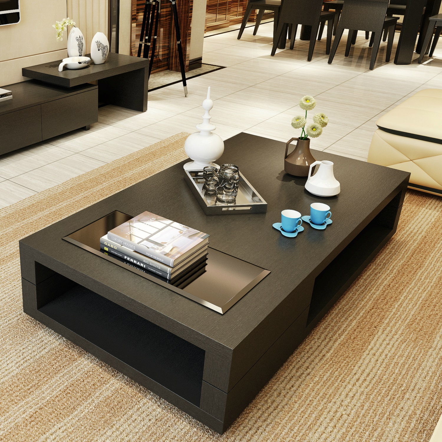 Cheap Minimalist Small Apartment Living Room Coffee Table