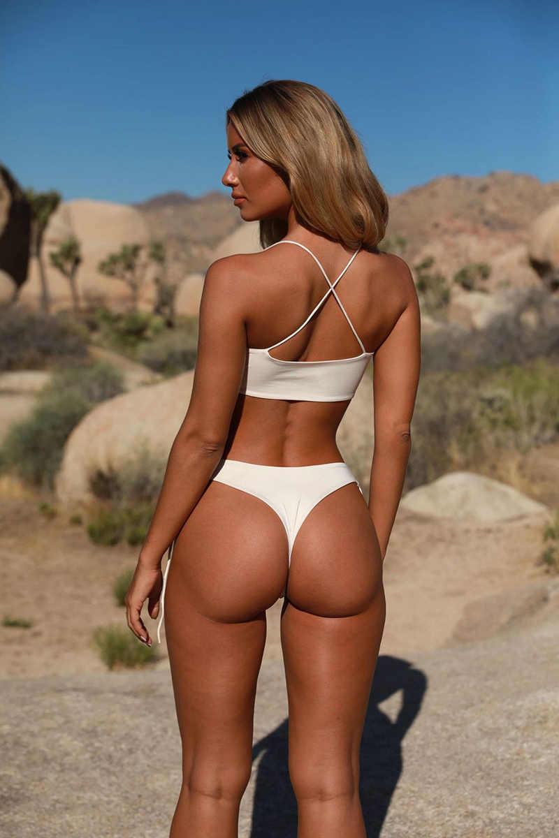 Baju Renang Anak Perempuan Wanita Dua Potong 2019 Bikini Wanita Baru Renang Seksi Putih Push Up Bikini Baju Bikini Set Monokini