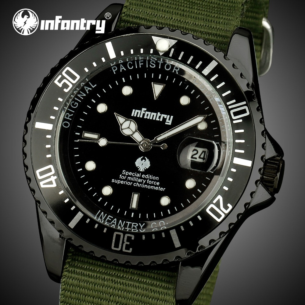 INFANTRY Mens Watches Top Brand Luxury Military Watch Men Datejust Army Police Watch for Men Green Nato Strap Relogio MasculinoINFANTRY Mens Watches Top Brand Luxury Military Watch Men Datejust Army Police Watch for Men Green Nato Strap Relogio Masculino