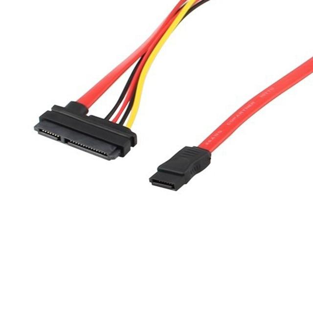SATA 22Pin Combo to 15 Pin Power + 7 Pin Data Cable 4 Pin Molex to ...