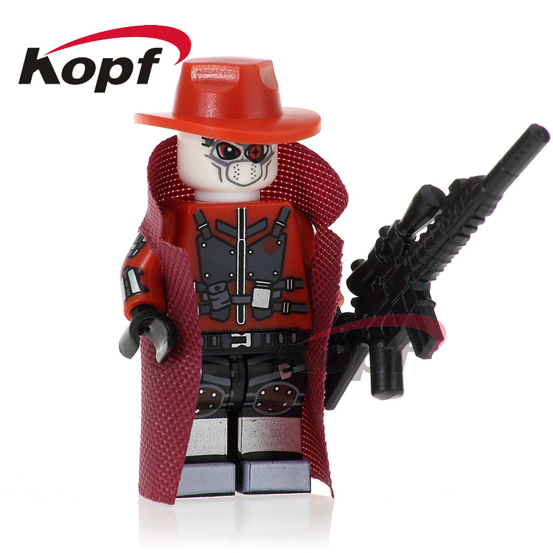 Sigle Sale Two Face Spider-Man Homecoming Deadshot Daredevil Spiderman Building Blocks Super Heroes Toys for children Gift PG265