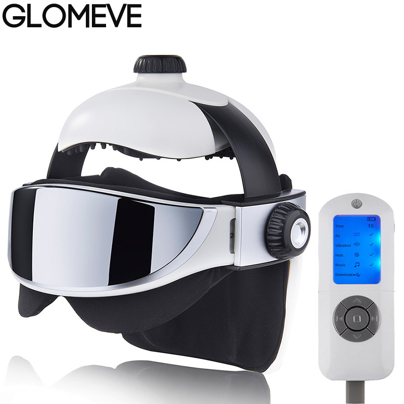Eyes Head Massage Helmet Automatic Electric Heating Air Pressure Vibration Therapy Massager Music Muscle Stimulator Health