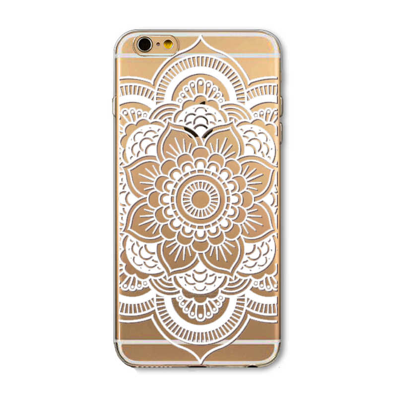 d2494128030 ... Case For iPhone 6 6S Colorful White DREAM CATCHER Ethnic Tribal Floral  Paisley Flower Mandala Henna ...