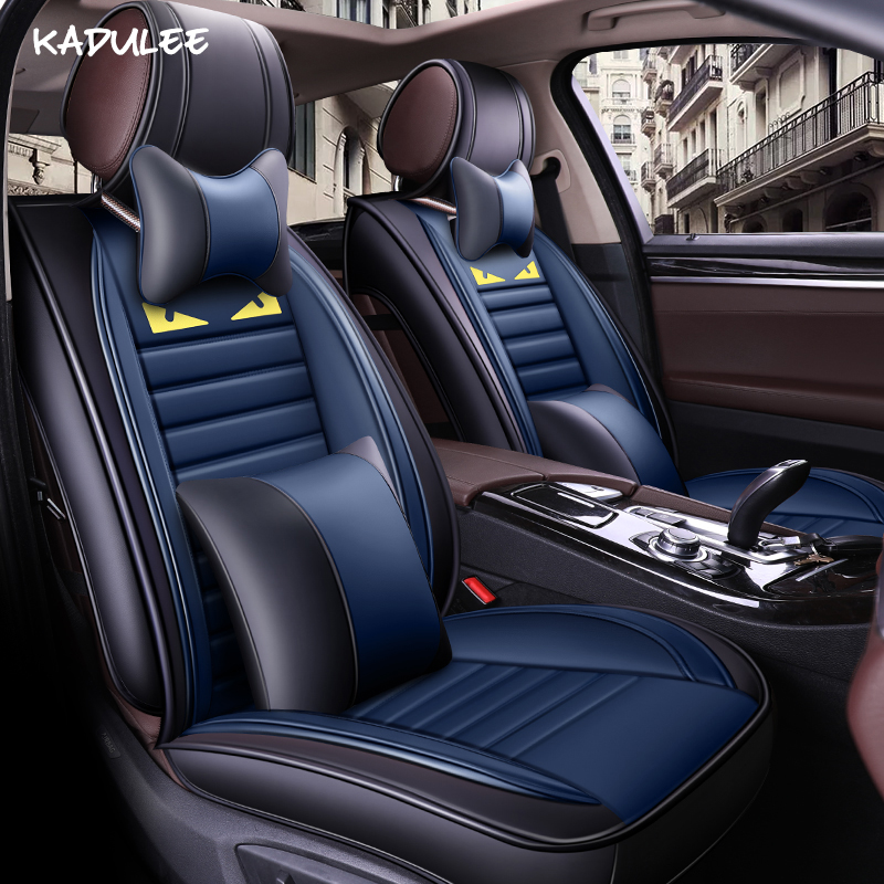 KADULEE car seat covers for fiat panda astra j chery tiggo t11 audi a3 sportback matiz lada 2107 car seat protector car styling
