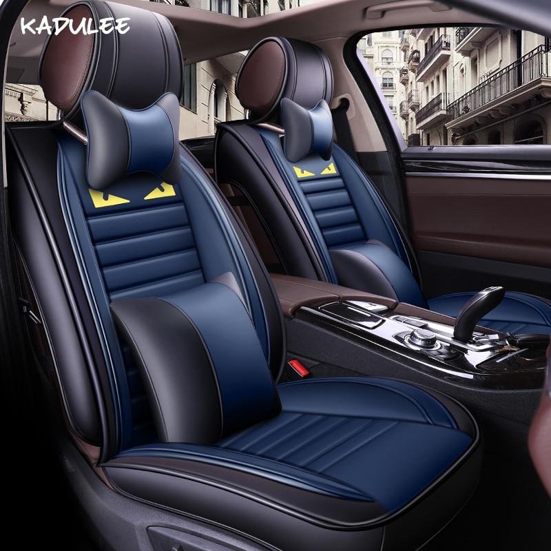 KADULEE housses de siège de voiture pour fiat panda astra j chery tiggo t11 audi a3 sportback matiz lada 2107 protecteur de siège de voiture de voiture style