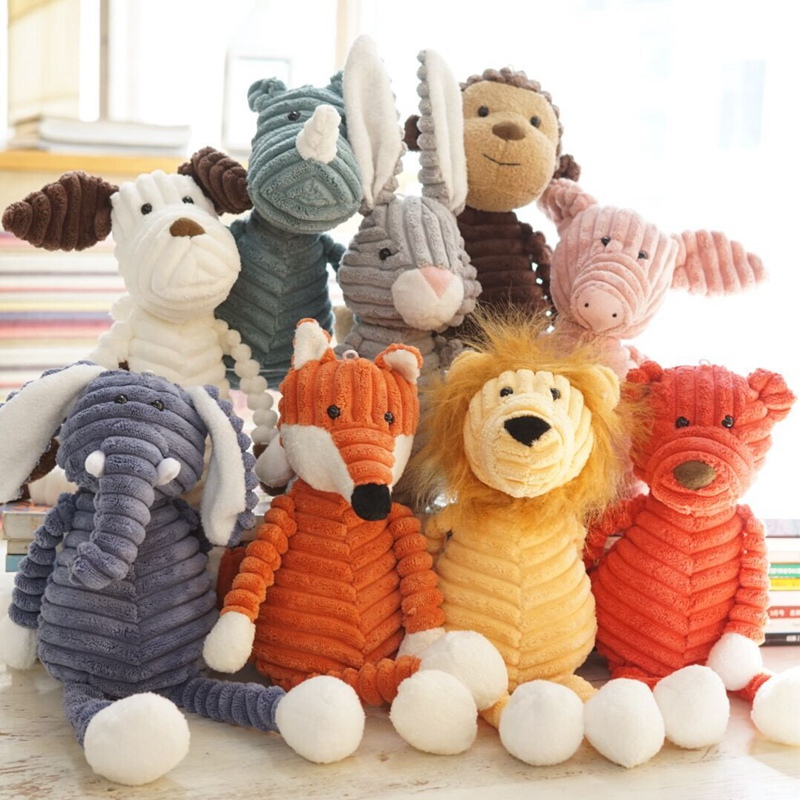 Candice guo! cute plush toy forest animal stripe elephant lion fox rabbit pig panda chicken monkey soft doll birthday gift 1pc elephant fire forest wall hanging tapestry