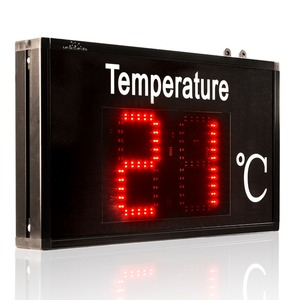 Image 2 - Thermometer industrial Temperature display large screen high precision LED display for Factory workshop lab warehous greenhouse