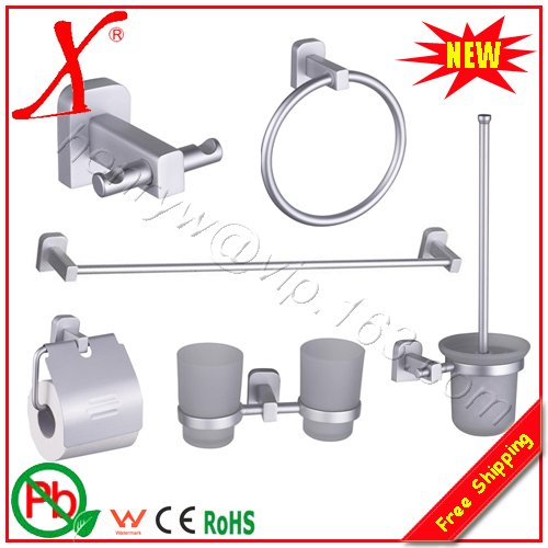 купить Retail- Aluminium Bathroom Accessories, 6 Pieces / Lots, Free Shipping L15829 онлайн