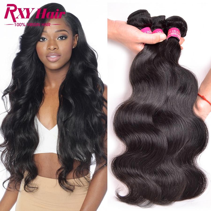 [ Rxy Hair ] Indian Virgin Hair Body Wave 4pc Indian Remy Hair Body Wave Virgin Indian Hair 8A Grade Virgin