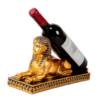 Egyptian Sphinx Resin Wine Racks Creative Retro Furniture Made of Solid Resin Elegant Manual Home Decorations Ornaments