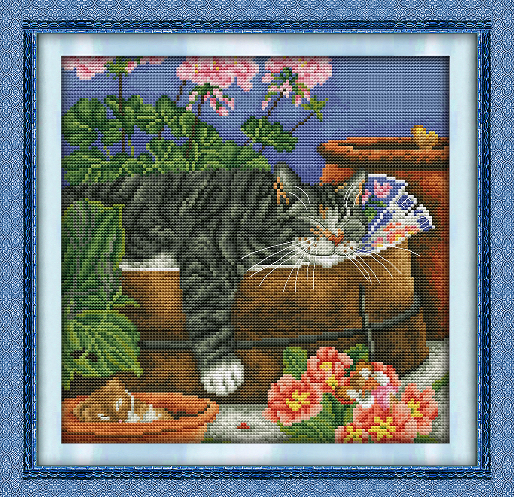 Free Ship Spring Birds Painting Counted Cross Stitch 11ct 14ct Cross Stitch Animals Cross-stitch Kit Embroidery Needlework Cross-stitch