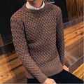 2016 Trendy Sweater Men Merino Wool Sweater Gradient Pullover Brand Mens Pull Homme Best Seller Round Neck Soft Wool pull over