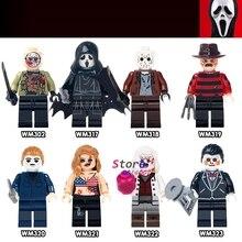 Single The Horror Theme Movie Hockey Guy Hockey Mask Hunter-Black Friday Jason Scream Killer building blocks toys for children