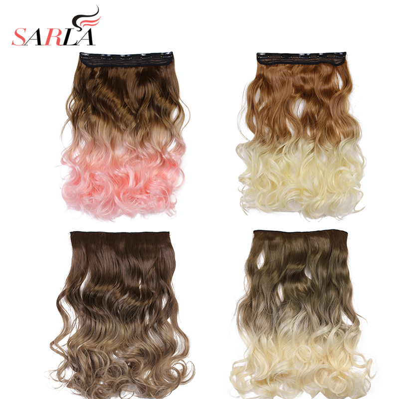 Online get cheap hair extensions 888 aliexpress alibaba group sarla 50pcs ombre body wave long clip on hair extensions synthetic resist high temperature hairpiece 888 free shipping pmusecretfo Images