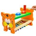 Brinquedos de madeira Crianças Novas Bebê Developmental 8-nota Musical Educacional Animal da Fazenda Música Toy Alta Qualidade Frete Grátis W1502