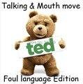Ted hablar y mover La Boca Trueno función Canción y lenguaje Soez ted Oso 40 cm EE.UU. táctica oso de peluche de juguete