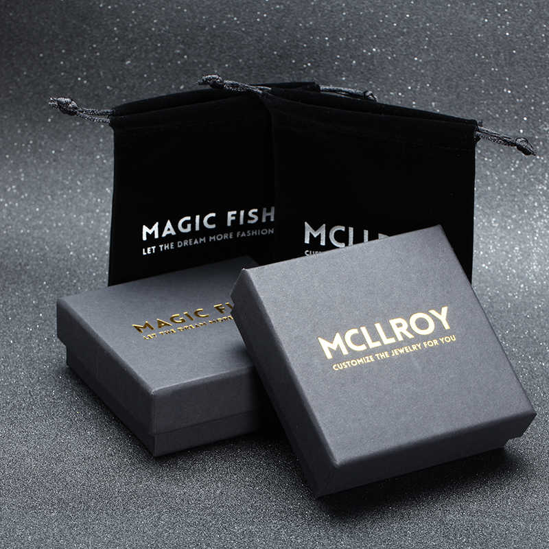 Mcllroy gift boxes for bracelets & bangles & necklace & rings jewelry Accessories Customized your logo wholesale boite bijoux