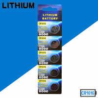 Freies verschiffen 50 teile/los CR1616 3 V Lithium-Batterie DL1616 ECR1616 CR 1616 Knopfzelle Batterien Hoher qualität