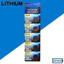цена на Free shipping 50pcs/lot  CR1616 3V Lithium Battery DL1616 ECR1616 CR 1616 Button Cell Batteries High quality