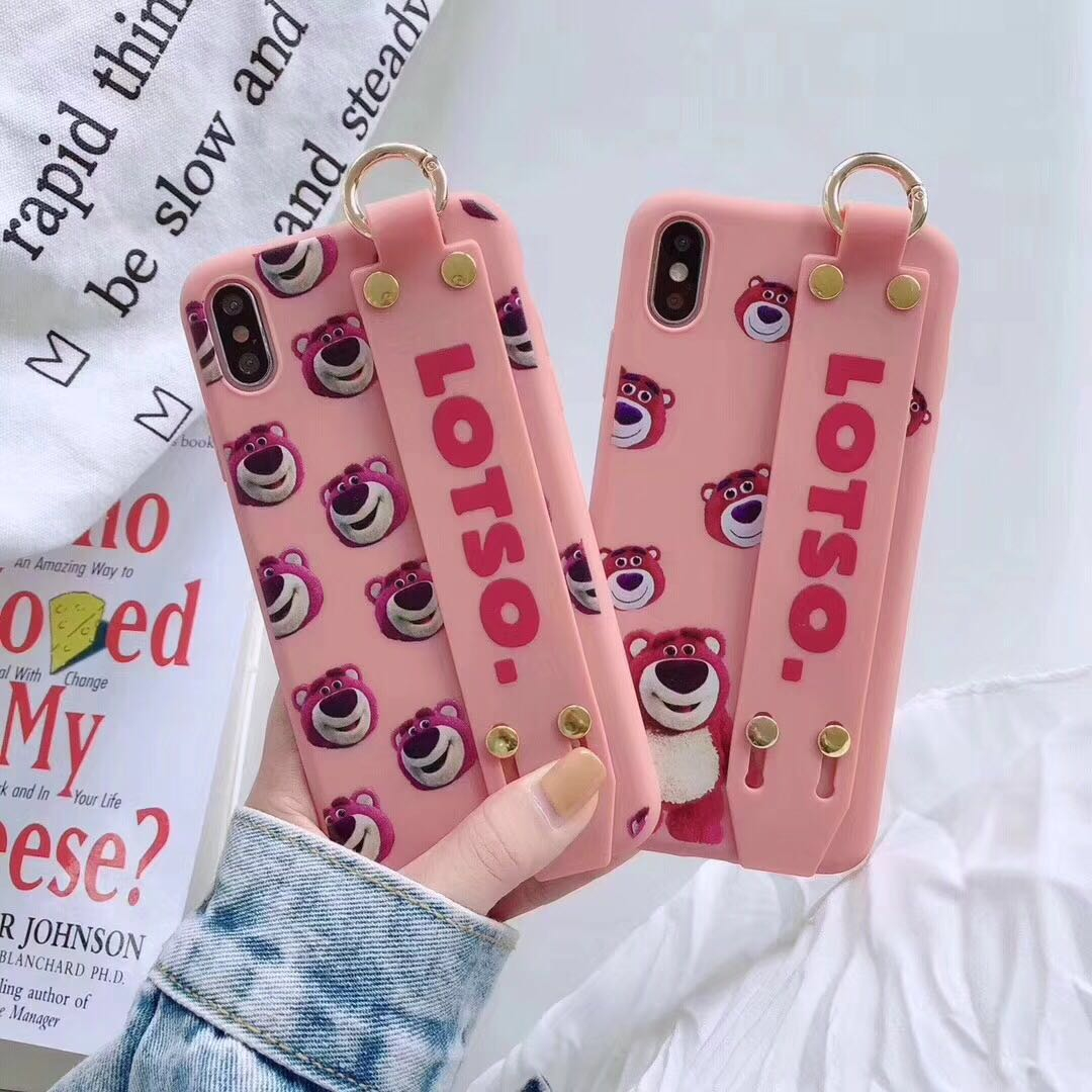 Pink bear iphone cases