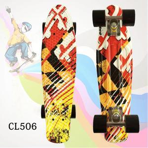 Image 3 - Bambino di Skateboard Appariscente Bordo Penny 22 pollici Fishboard Cruiser Banana Skateboard Mini Skateboard per I Bambini Sport Allaria Aperta