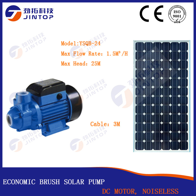 (MODEL YSQB-24) JINTOP  SOLAR BRUSH SURFACE PUMP Free Shipping Flow 1.5T/H DC24v 0.5HP Solar Surface Water Pump For Residential