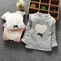 2016 Autumn and Winter Casual Gilrs Boys Baby Children Infant,baby Thickening Long-sleeved Bow Cute Warm Princess Shirt