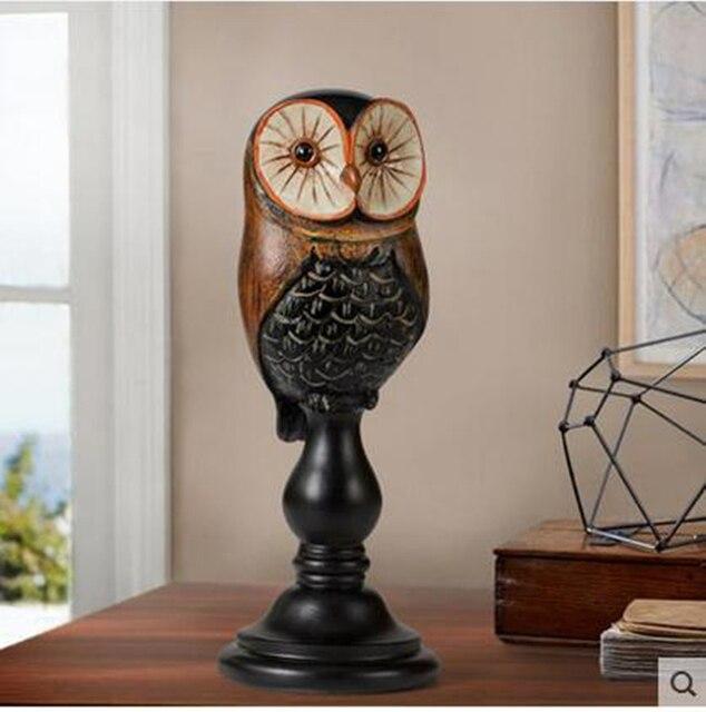 Сова ремесел, творческий птица статуя, бытовые украшения, украшения рабочего стола