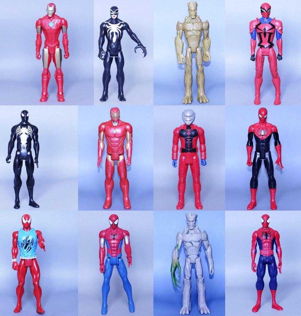 NO Box NEW PVC Titan Hero Spider Man Iron Man Ant Man VenomGalaxy Agents 30CM Ultra Action Figure Toys