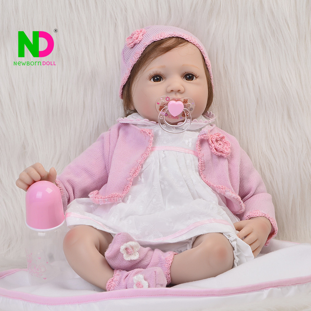 Realista Silicone Bebe Reborn Kids Doll Baby Toys For Girls Birthday Gift High Quality Newborn Dolls Fashion Babies Playmates high end handmade chinese dolls ancient costume tang princess jin yang jointed doll articulated kids toys girls birthday gift
