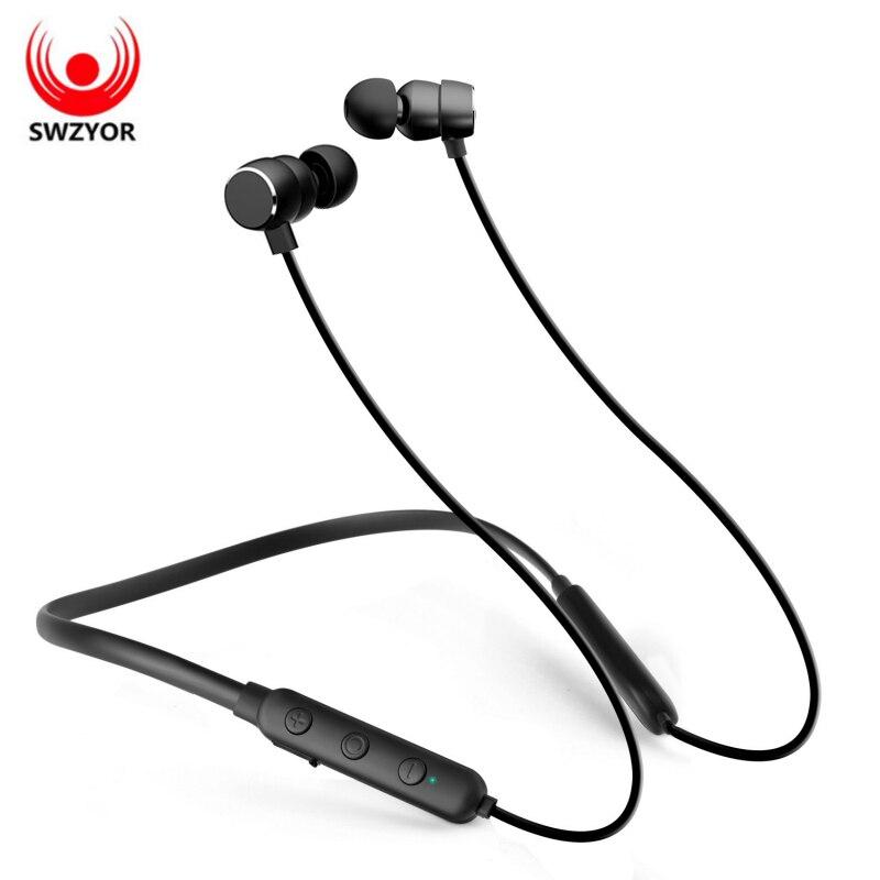 SWZYOR X7 Flex Auricolare Bluetooth Senza Fili Cuffie Con Archetto Da Collo di IPX4 Impermeabile di Sport del Metallo Magnetico Trasduttore Auricolare Per il iphone Xiaomi