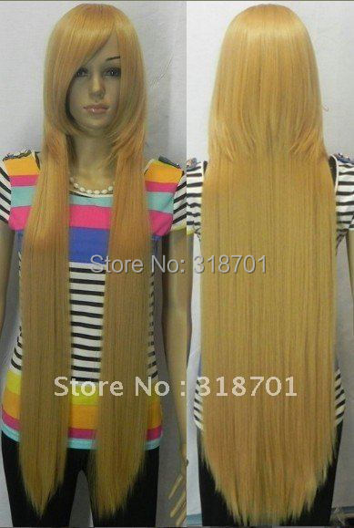 (Free Shipping) Hot Sell! new golden blonde long straight cosplay full wig wigs