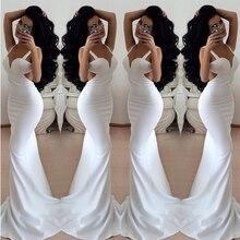 2016 einfache Und Sexy Schatz Backless Weiße Abendkleid Lang Satin Abendkleid Benutzerdefinierte vestido de festa gala jurken