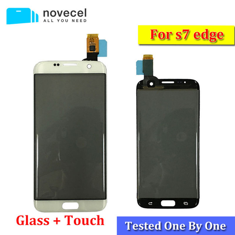 1pcs G935F Quality Touch Screen Digitizer Front Glass Touch panel Polarizer For Galaxy S7 Edge replacement