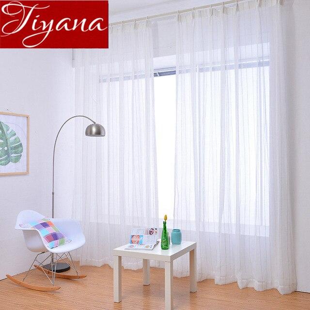 white curtains striped voile curtain for living room modern curtains rh aliexpress com modern white cafe curtains modern farmhouse white curtains