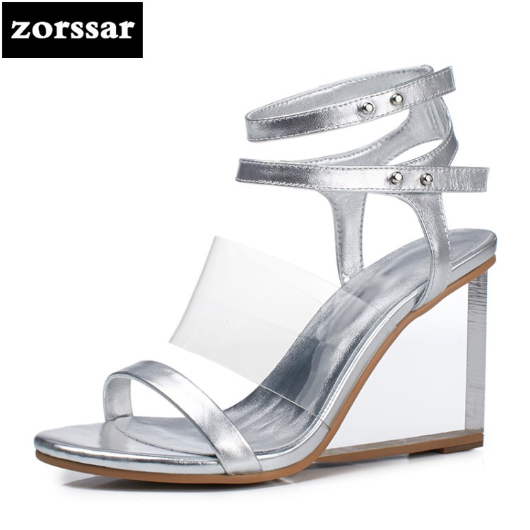 {Zorssar} 2018 New Ankle Strap Heels Women Wedges Sandals Open Toe shoes Summer Women Shoes High Heels Sandals dress shoes sexy open toe cross strap platform high heels sandals fashion ankle strap wedges gladiator sandals ladies summer wedges shoes