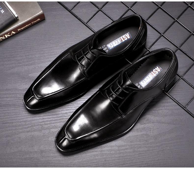 Men's Casual Shoe Business Mens Genuine Leather Shoes Men Big Size 45 Casual Leather Oxford Shoes For Men Lace Up Brogues Formal (13)