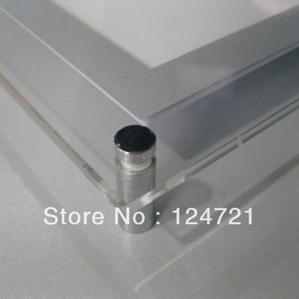 Световой короб для рекламы светодиодные панели висит акриловая панель для наклейки плакатов волшебное зеркало рекламной коробки для дисплея из a3 Размер 8 шт./лот
