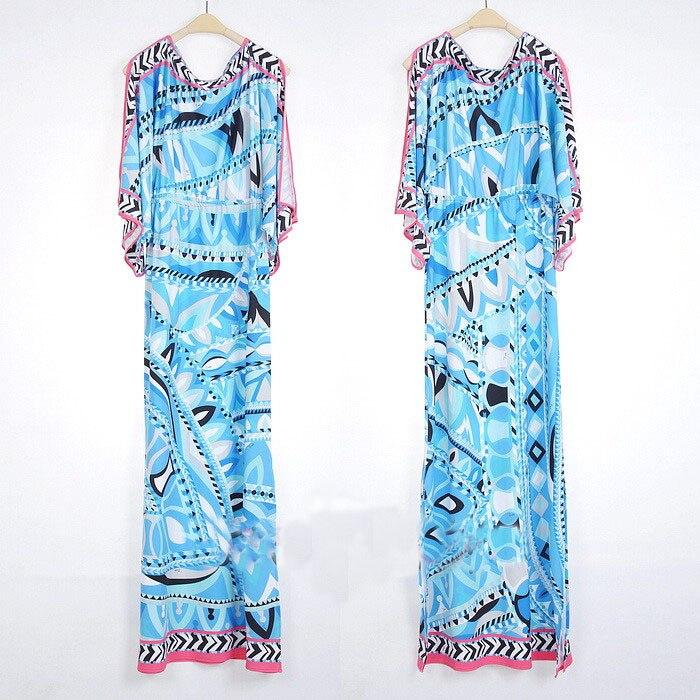 Sexy Manches Arrivée Spandex Géométrique Ciel Imprimé Robe Nouvelle Maxi L'europe Pu À Epucci Top Longues Gaine Jersey Fashion FqC48xv