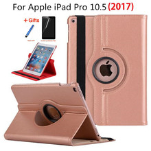 360 Rotating Litchi skin PU Leather cases cover capa para For Apple iPad Pro 10.5inch for ipad pro mini 10.5+film+stylus+OTG